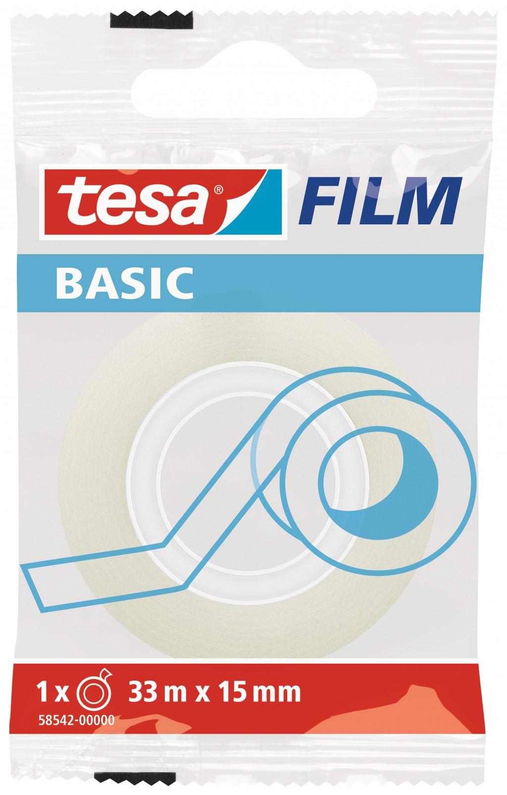 Teip Tesa Film Basic, 33m x 15mm, läbipaistev