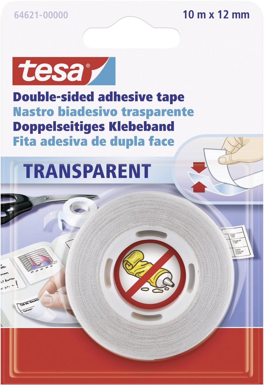 Teip kahepoolne Tesa, 12mm x 10m, läbipaistev