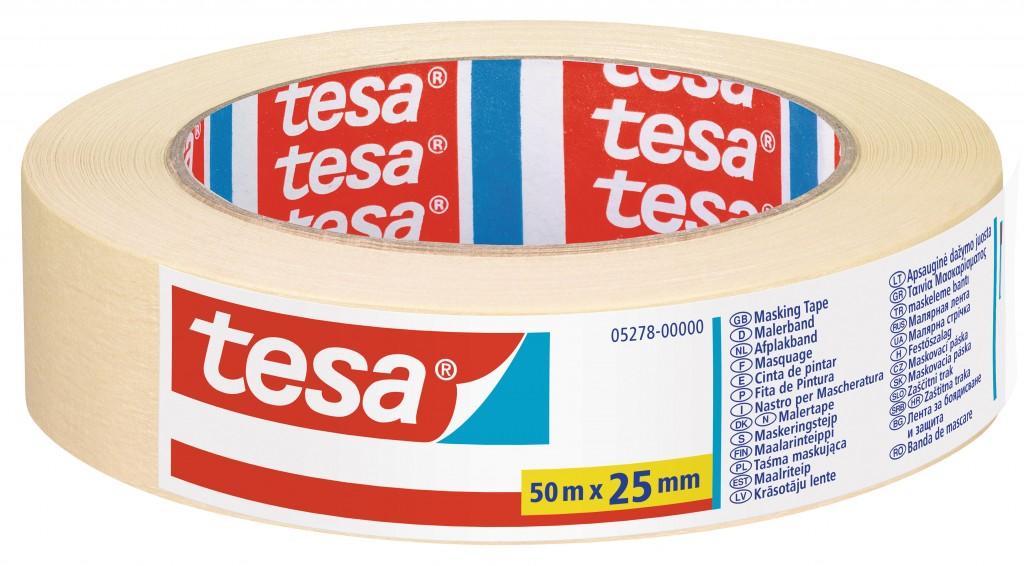 Maalriteip Tesa, 50m x 25mm