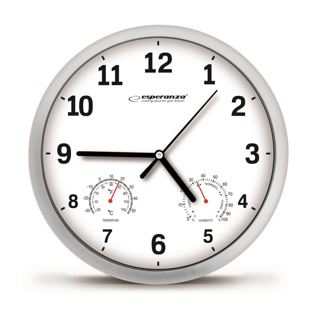 ESPERANZA EHC016W LYON - WALL CLOCK - WHITE