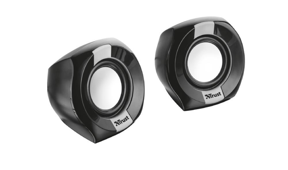 Trust Polo Compact 2.0 8 W Must Juhtmega ühendatud
