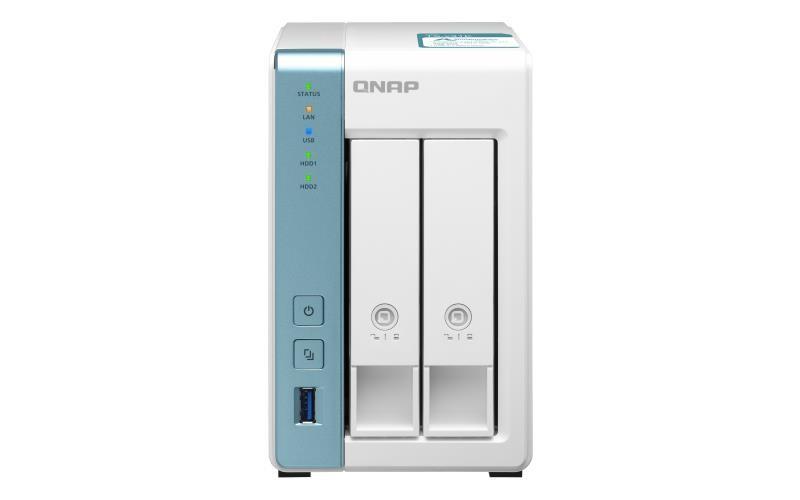 QNAP TS-231K võrkupääsu- ja varundusserver NAS Tower Ethernet LAN Valge Alpine AL-214