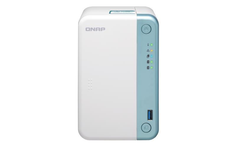 QNAP TS-251D NAS Tower Ethernet LAN Valge J4005