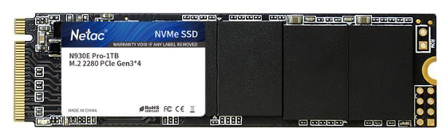 SSD|NETAC|500GB|M.2|PCIE|NVMe|Write speed 3148 MBytes/sec|Read speed 3510 MBytes/sec|NT01N950E-500G-E4X