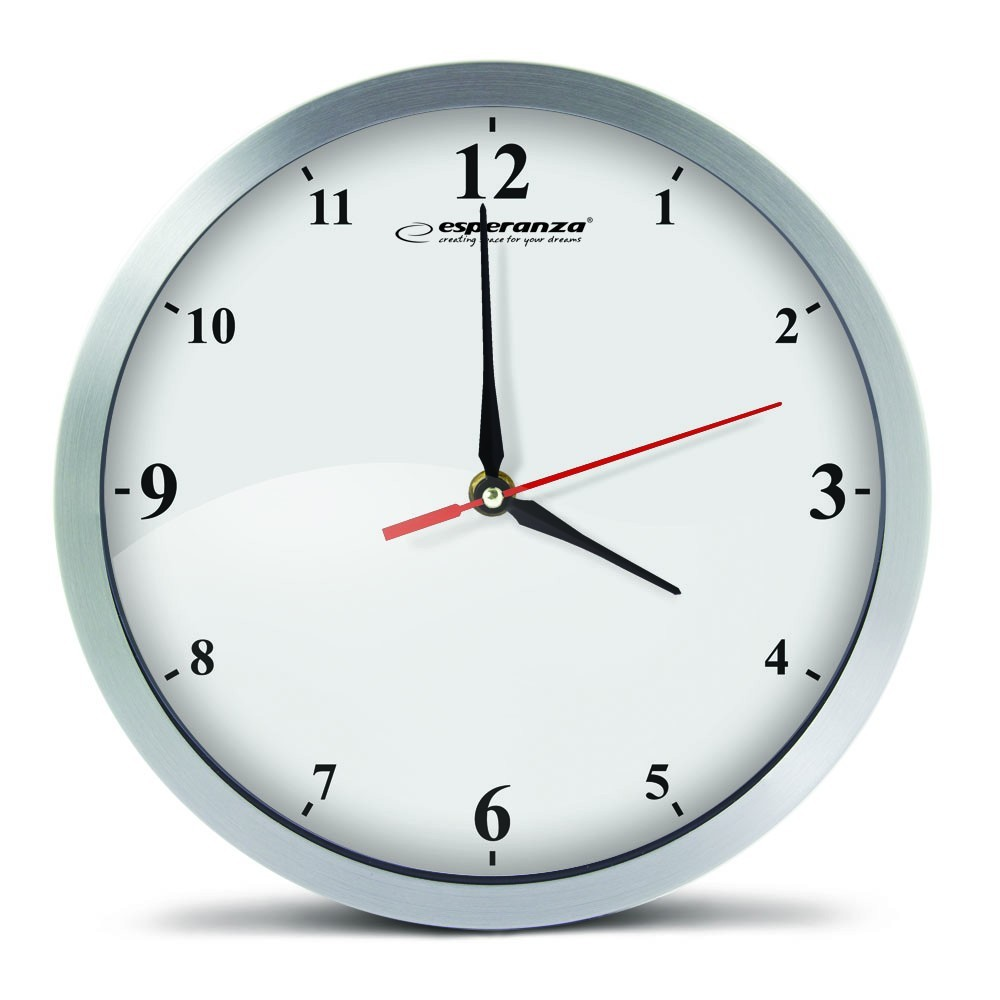 WALL CLOCK DETROIT WHITE