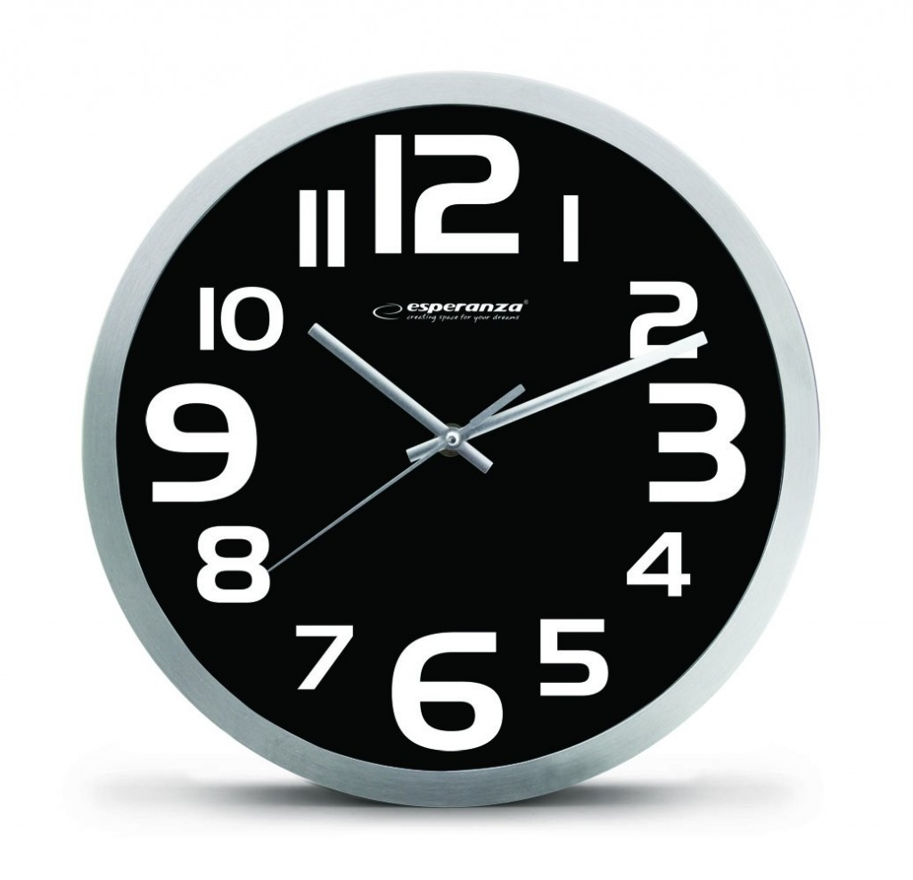 WALL CLOCK ZURICH BLACK