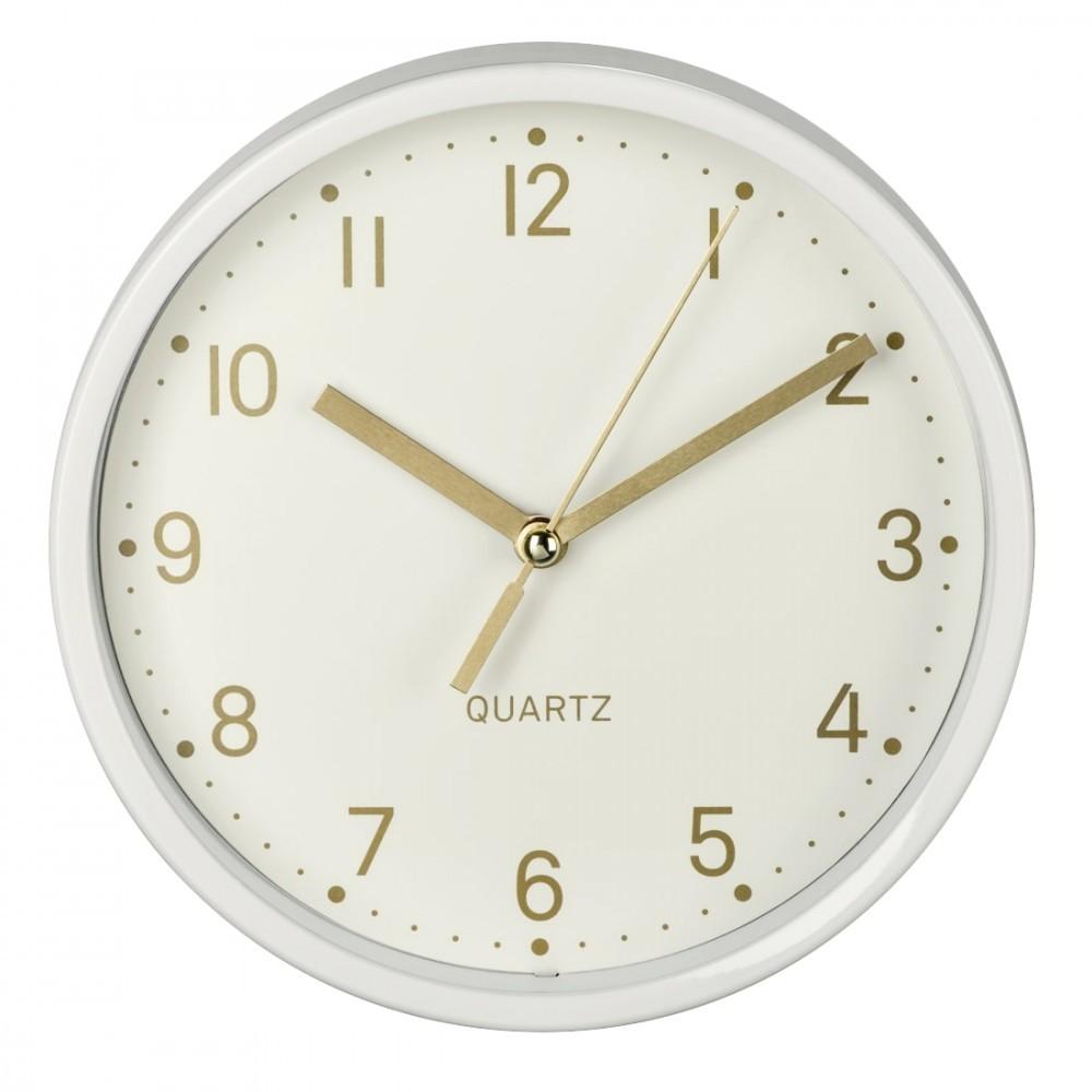 Desk clock Golden Hama quiet white