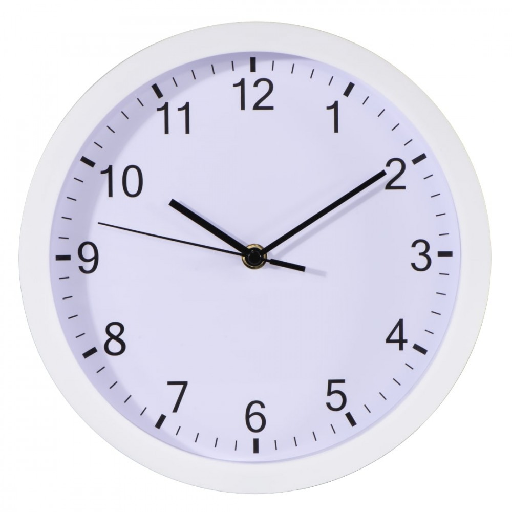 Wall clock Hama PURE 25 cm quiet white