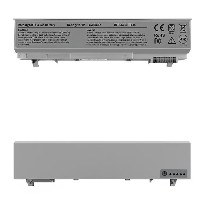 Battery for Dell Latitude E6500 E6410 E6510, 4400mAh, 10.8-11.1V