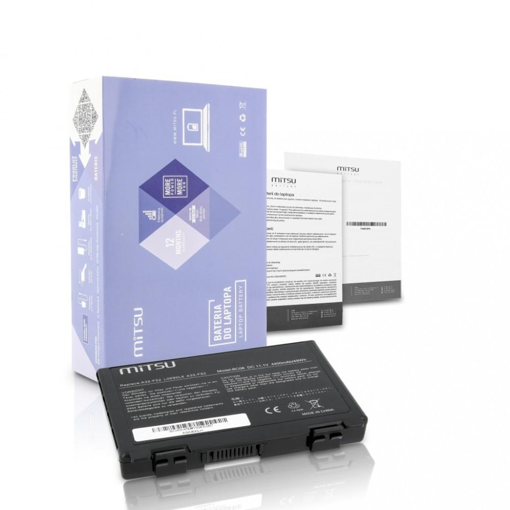 Battery for Asus F82, K40, K50, K60, K70 4400 mAh (49 Wh) 10.8 - 11.1 Volt