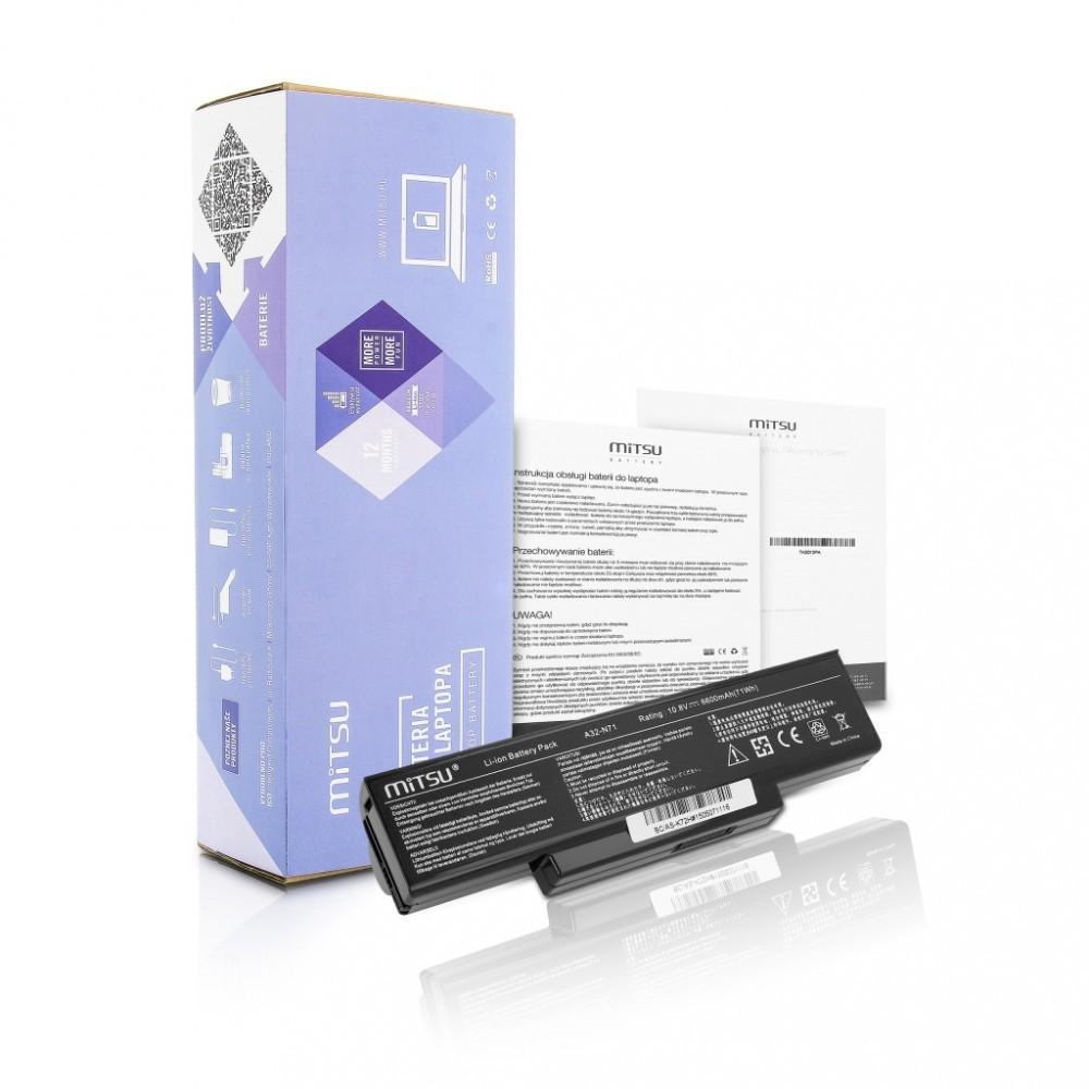Battery for Asus K72, K73, N73, X77  6600 mAh (71 Wh) 10.8 - 11.1 Volt