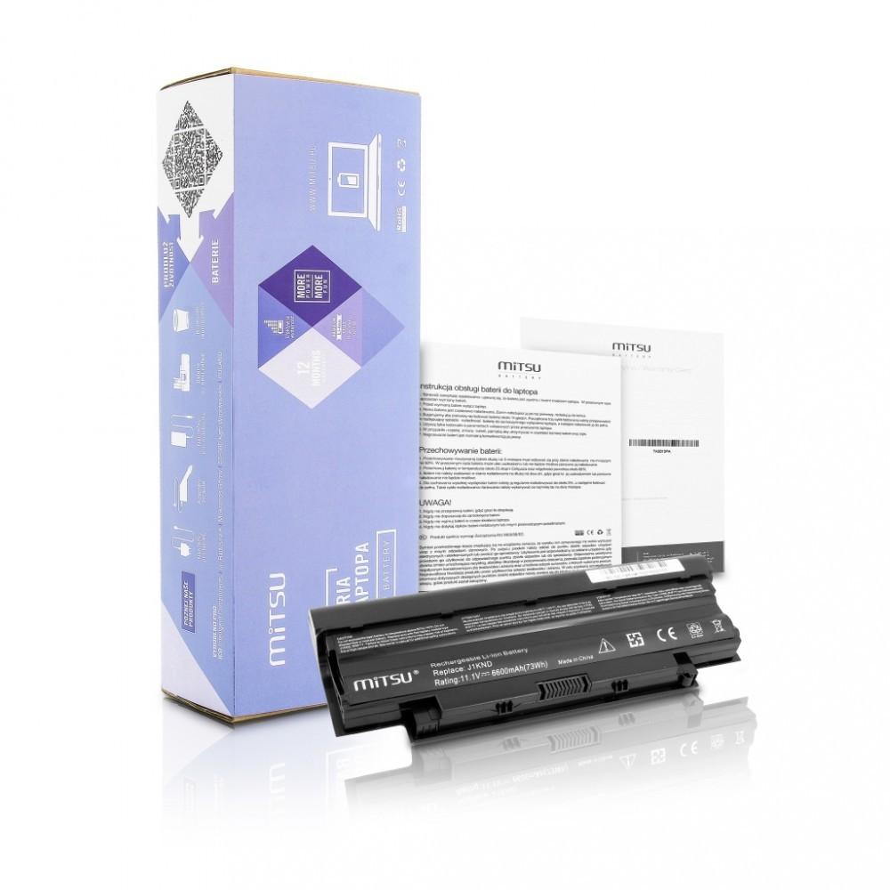 Battery for Delll 13R, 14R, 15R 6600 mAh (73 Wh) 10.8 - 11.1 Volt