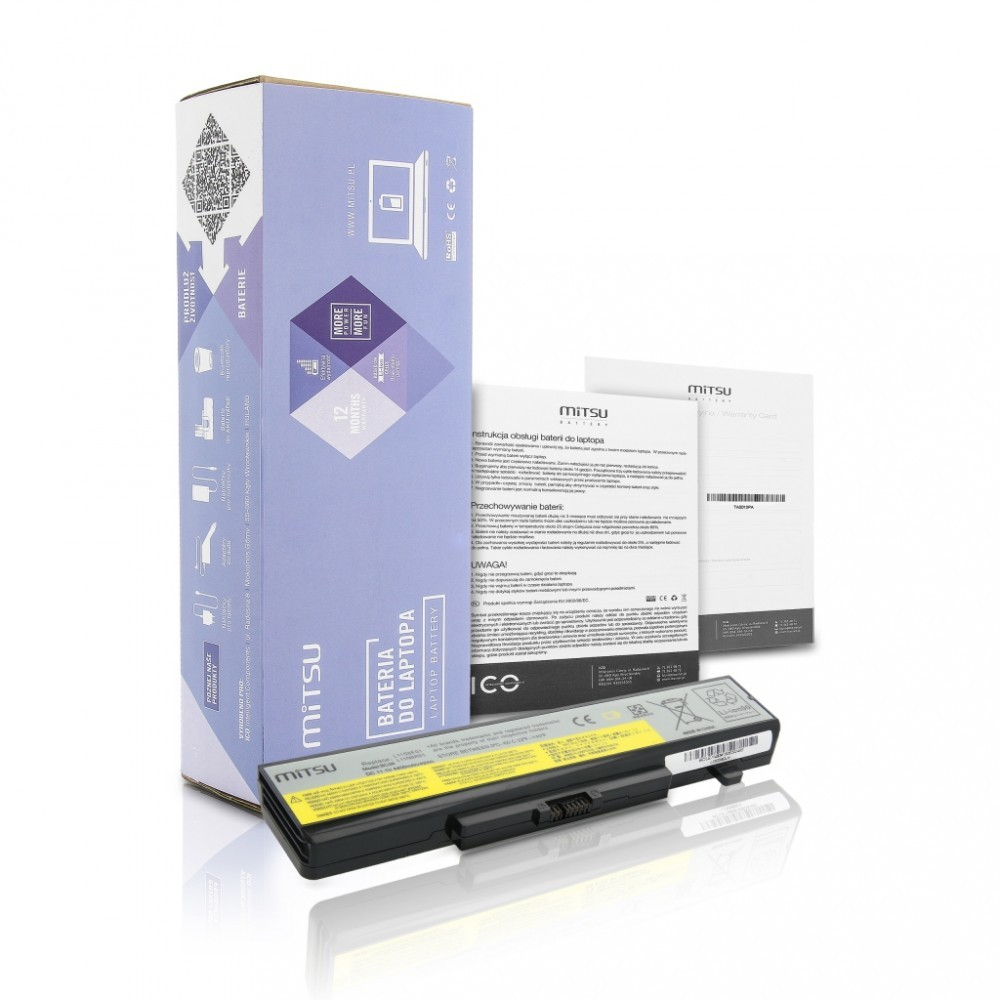 Battery for Lenovo IdeaPad Y480 4400 mAh (49 Wh) 10.8 - 11.1 Volt