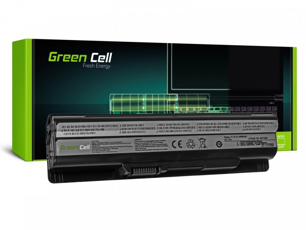 Battery for MSI CR650 11,1V 4400mAh