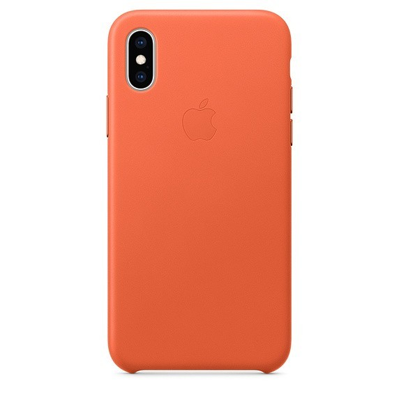 Leather case iPhone XS - sunset