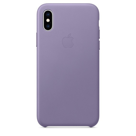 Leather case iPhone XS - lilac