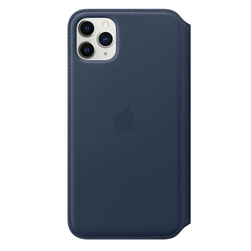 Leather Folio iPhone 11 Pro Max Deep Sea Blue