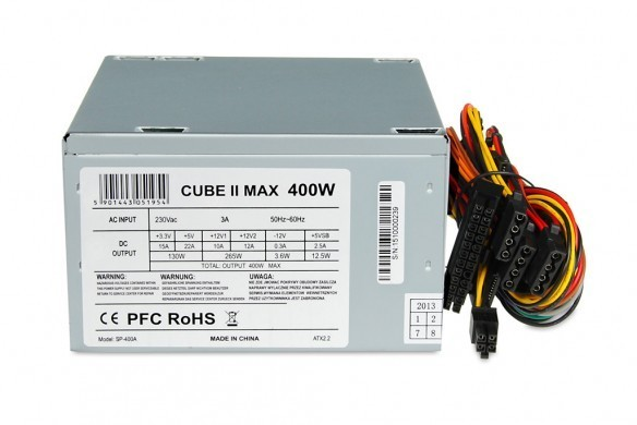 Power Supply 400 W CUBE II 12 CM FAN