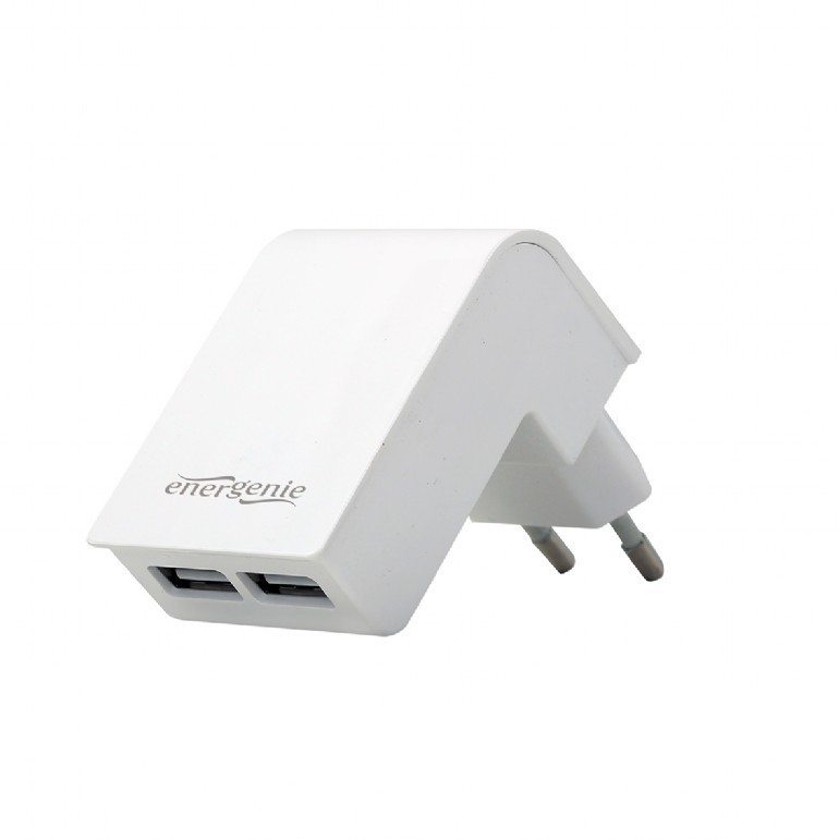 2 ports charger USB 2.1A/white