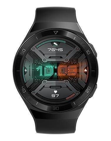 "Huawei WATCH GT2e AMOLED 3,53 cm (1.39"") Must GPS (satelliit)"