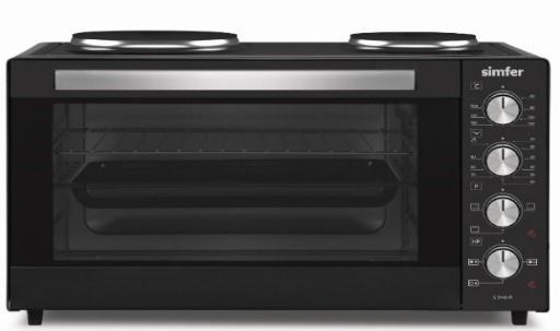 Simfer Midi Oven Oscar M3551.R11N1.AA 35 L, 2 Hotplates, Free standing, Black, 90 min, Mechanical Timer, 2400 W