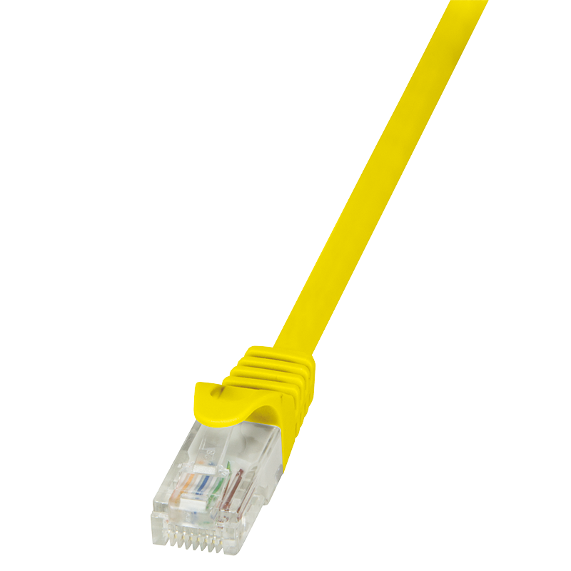 Logilink Patch cable CP1037U Cat 5E, U/UTP, Yellow, 1 m