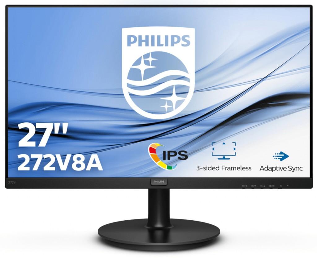 "Philips 272V8A/00 27 "", IPS, FHD, 16:9, 4 ms, 250 cd/m², Black"