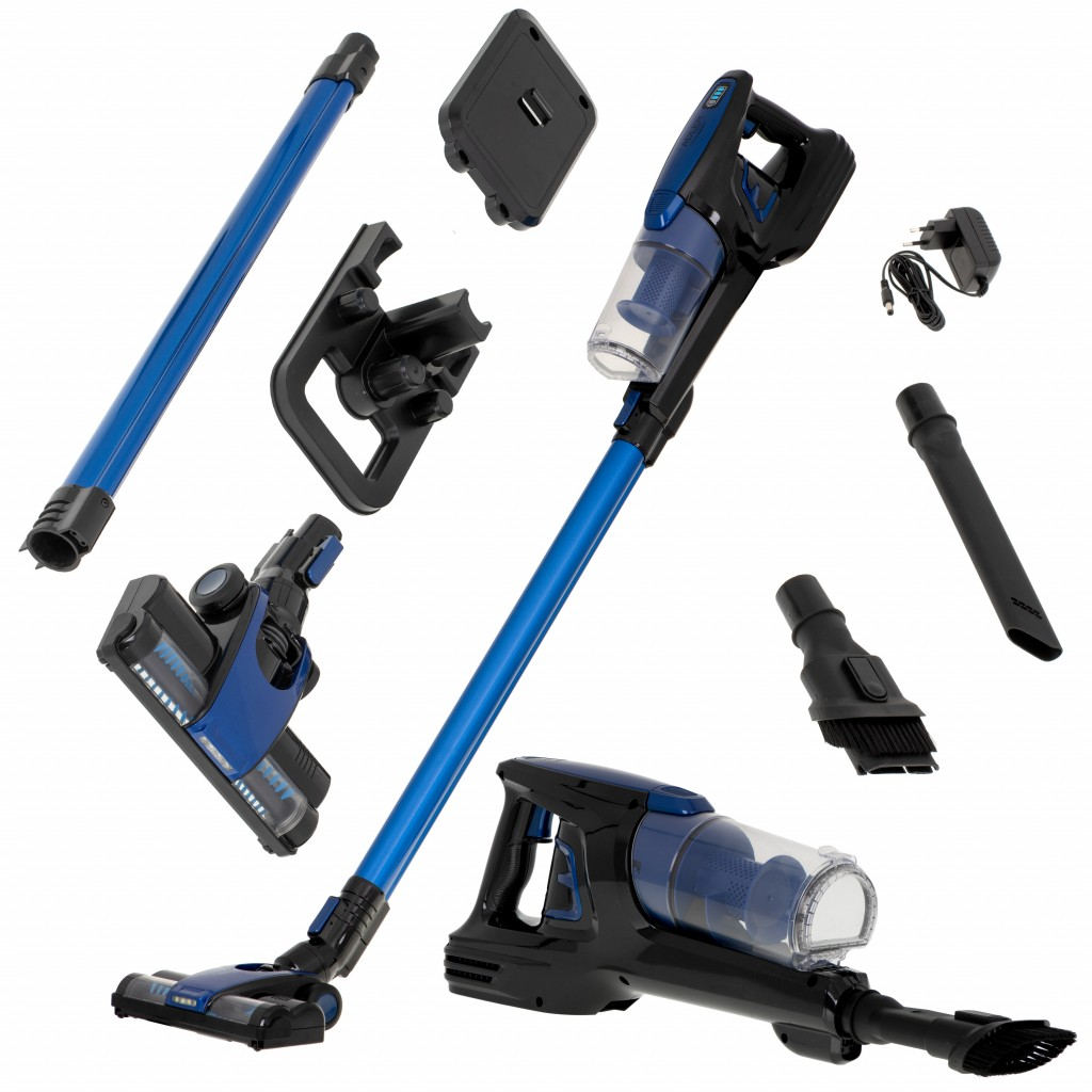 Adler Vacuum Cleaner AD 7043 Cordless operating, Handstick and Handheld, 22.2 V, Operating time (max) 28 min, Blue, Warranty 24 month(s)