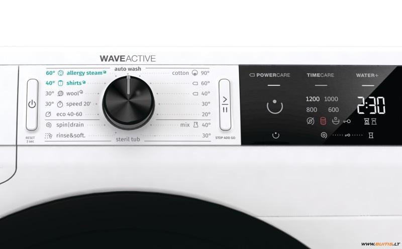 Gorenje Washing mashine  WE62SDS Energy efficiency class D, Front loading, Washing capacity 6 kg,  1200 RPM, Depth 43 cm, Width 60 cm, LED, Steam function, Self-cleaning, White