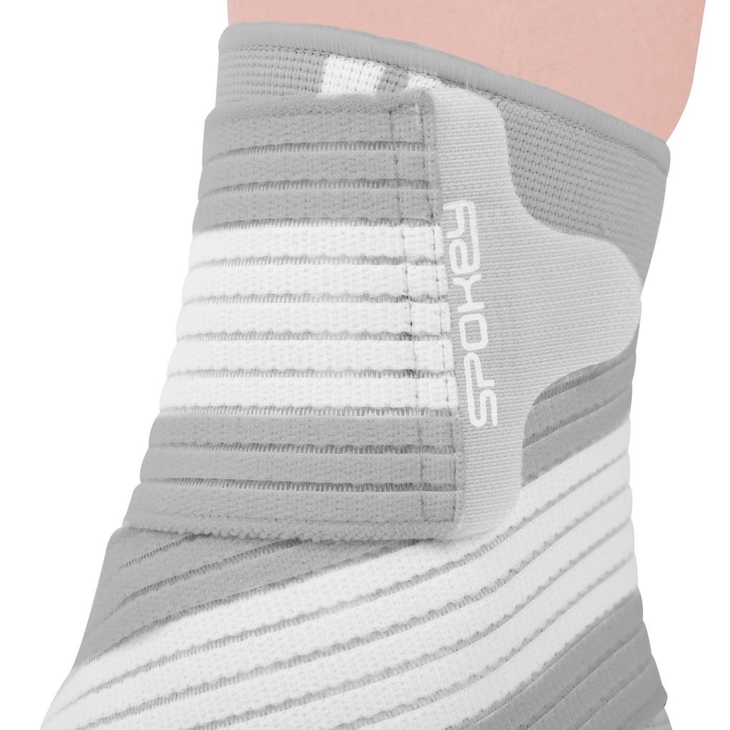 Spokey SEGRO Ankle support, 4-way system, Universal, Grey/white