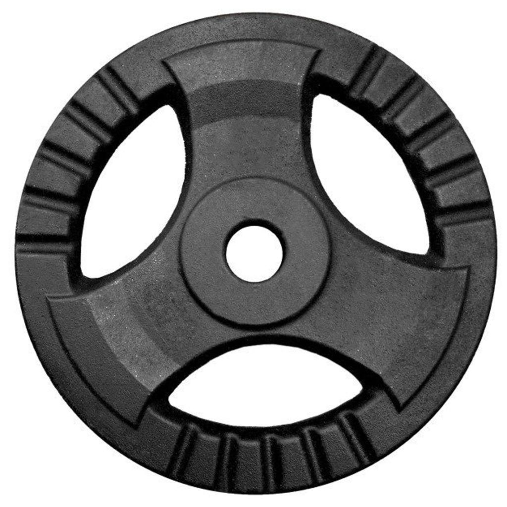 Spokey SINIS DRIVE Weight plate, 15 x 2 cm (hole diameter: 2.85 cm), 1.25 kg, Black, Cast iron