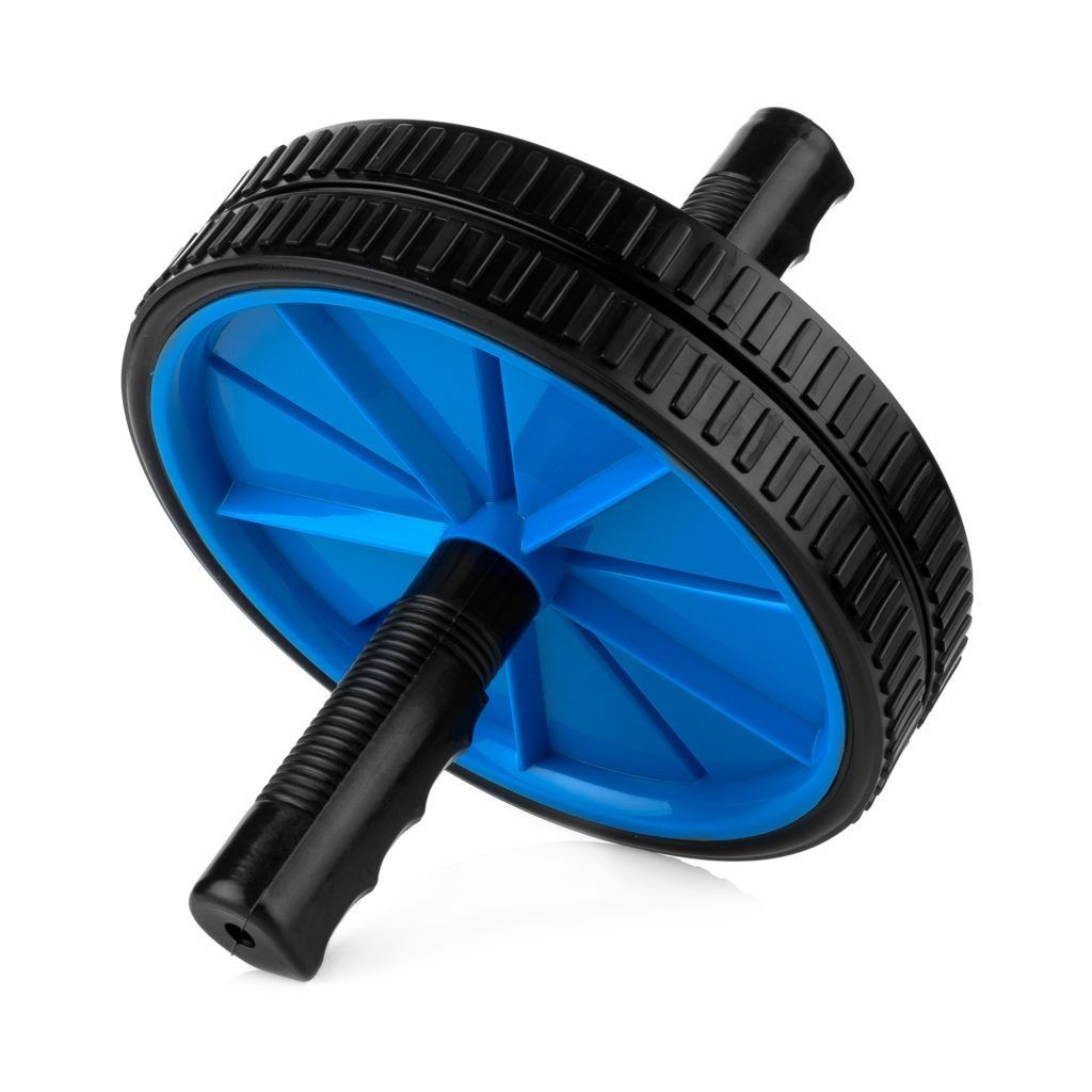 Spokey TWIN II Double roller, Blue/black, Plastic/steel