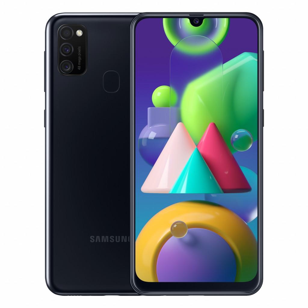 "Samsung Galaxy M21 Black, 6.4 "", Super AMOLED, 1080 x 2340  pixels, Exynos 9611, Internal RAM 4 GB, 64 GB, microSDXC, Dual SIM, 3G, 4G, Main camera 48+8+5 MP, Android, 10.0, 6000 mAh"