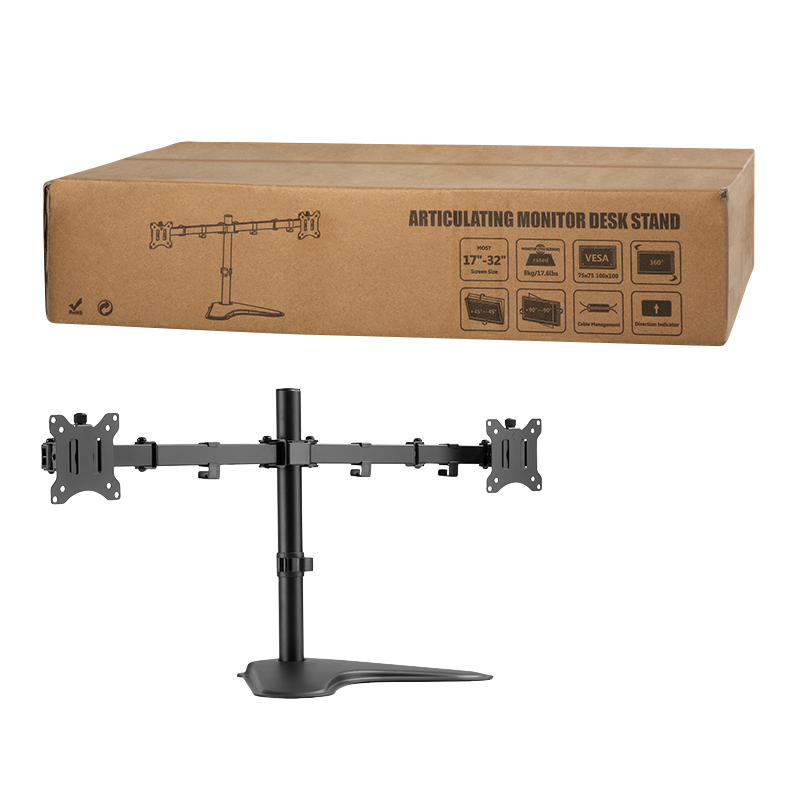 "Logilink Dual Monitor Stand BP0099 Desk Mount, 17-32 "", Maximum weight (capacity) 8 kg, Black"