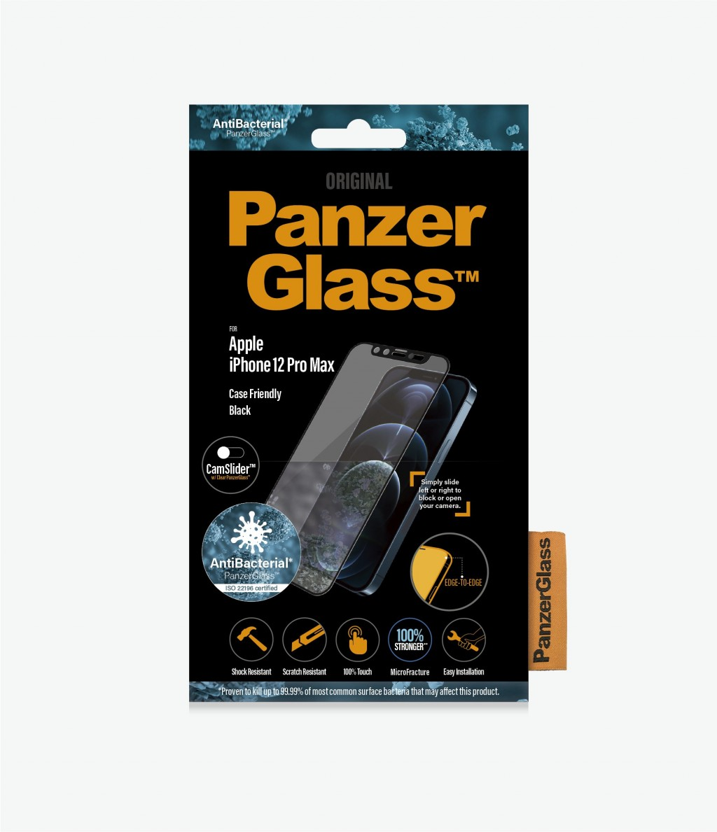 PanzerGlass Apple, iPhone 12 Pro Max, Tempered glass, Black, Case Friendly