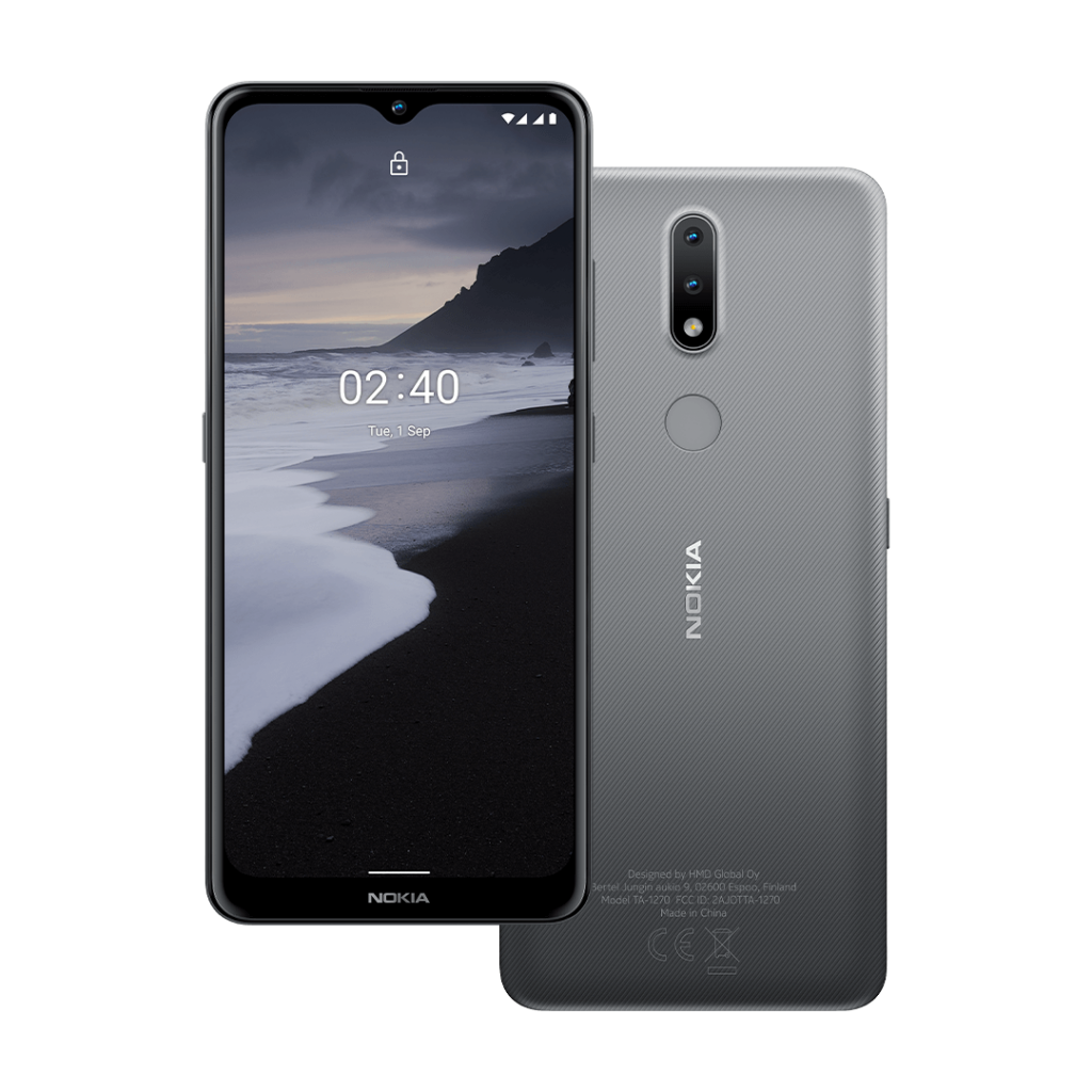 "Nokia TA-1270 2.4 6.5 "", Charcoal Grey, IPS LCD, 720 x 1600 pixels, Mediatek MT6762 Helio P22, Dual SIM, Nano-SIM, 5.0, Internal RAM 2 GB, 32 GB, MicroSDXC, 3G, 4G, Main camera 13+2 MP, Secondary camera 5 MP, Android, 10.0, 4500 mAh"
