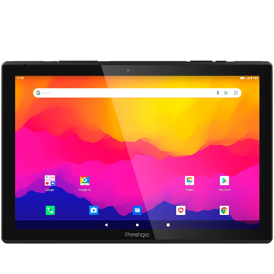 "Prestigio Muze 4231 4G, 10.1""(1280*800) IPS, Android 10 (Go edition), up to 1.4GHz Quad Core Spreadtrum SC9832e CPU, 2GB + 16GB, BT 4.0, WiFi 802.11 b/g/n, 2.0MP front cam + 5.0MP rear cam, Micro USB, microSD card slot, LTE, Single SIM, have call function, 5000mAh bat, Dark grey"