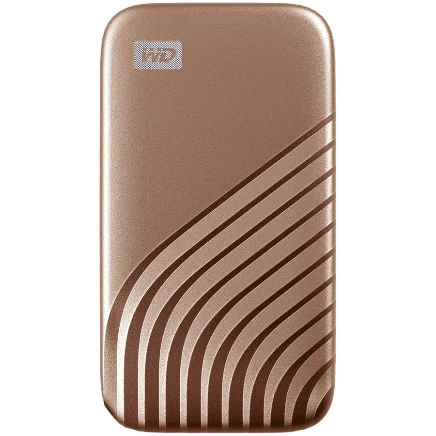 WD My Passport External SSD 1TB USB 3.2, Gold, 1050MB/s Read, 1000MB/s Write, PC & Mac Compatiable