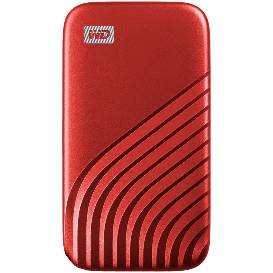 WD 1TB My Passport SSD - Portable SSD, up to 1050MB/s Read and 1000MB/s Write Speeds, USB 3.2 Gen 2 - Red