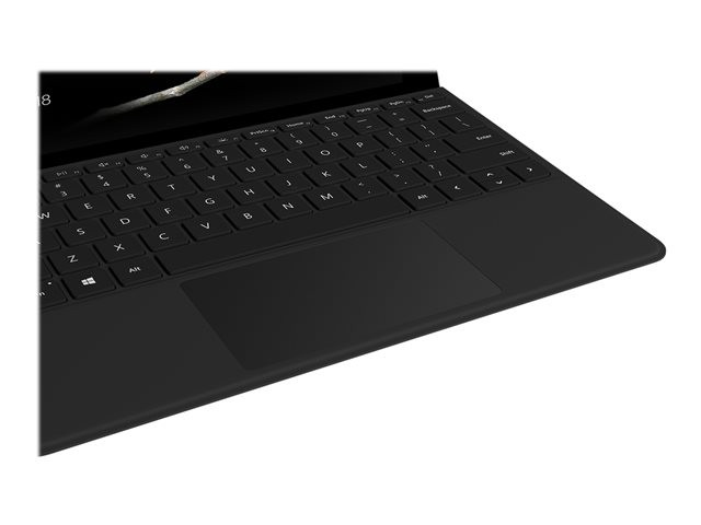 Microsoft Keyboard Surface GO Type Cover Built-in Trackpad and Accelerometer, Multimedia; Brightness; Windows shortcuts, Black, 245 g