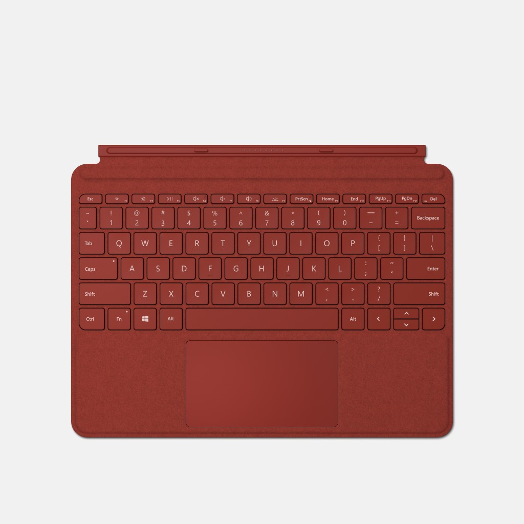Microsoft Keyboard Surface GO Type Cover Magnetic, Built-in Trackpad and Accelerometer, Poppy Red, English, 245 g