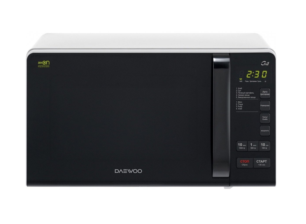 Winia Microwave oven with Grill KQG-663BW Free standing, 700 W, Grill, White/Black