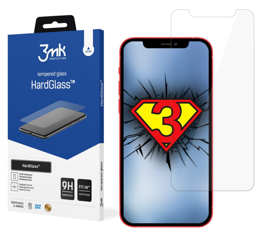 3MK HardGlass For iPhone 12/12 Pro, Transparent