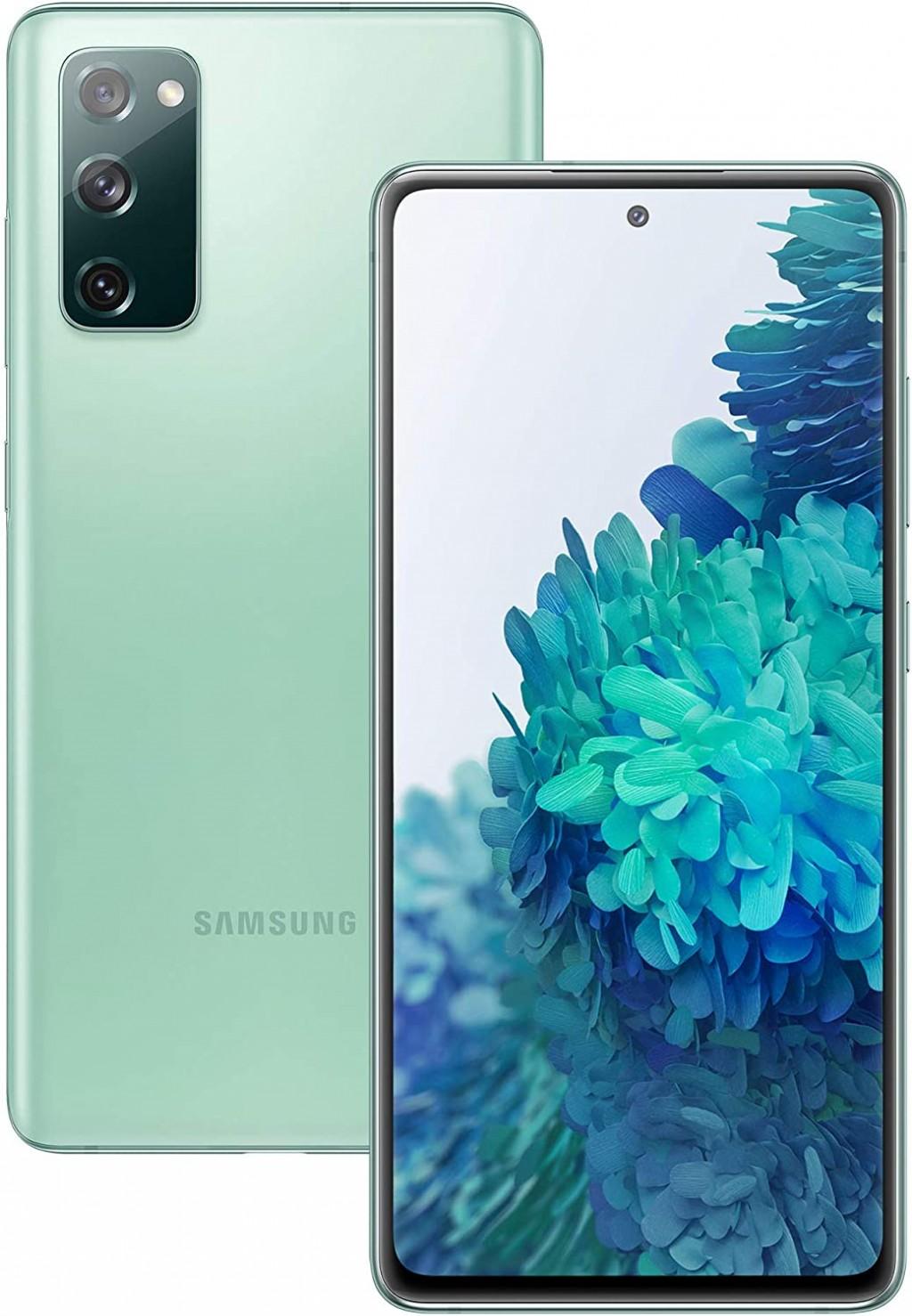 "Samsung Galaxy S20 FE Mint, 6.5 "", Super AMOLED, 1080 x 2400, Exynos 990, Internal RAM 6 GB, 128 GB, microSD, Dual SIM, Nano-SIM, 3G, 4G, Main camera 12 + 12 + 8 MP, Secondary camera 32 MP, Android, 10, 4500 mAh"