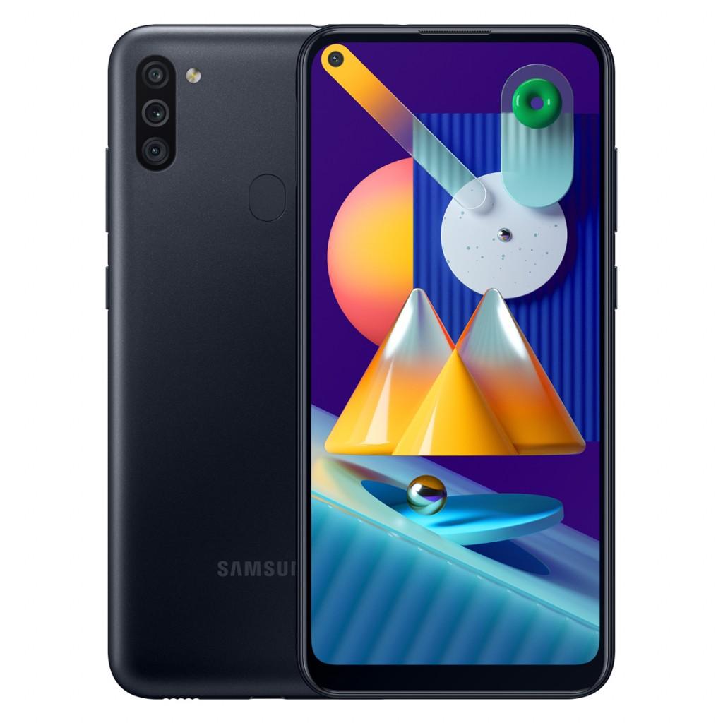 "Samsung Galaxy M11 Black, 6.4 "", PLS TFT, 720 x 1560 pixels, Qualcomm SDM450, Snapdragon 450, Internal RAM 3 GB, 32 GB, microSDXC, Dual SIM, 3G, 4G, Main camera 13+5+2 MP, Android, 10.0, 5000 mAh"