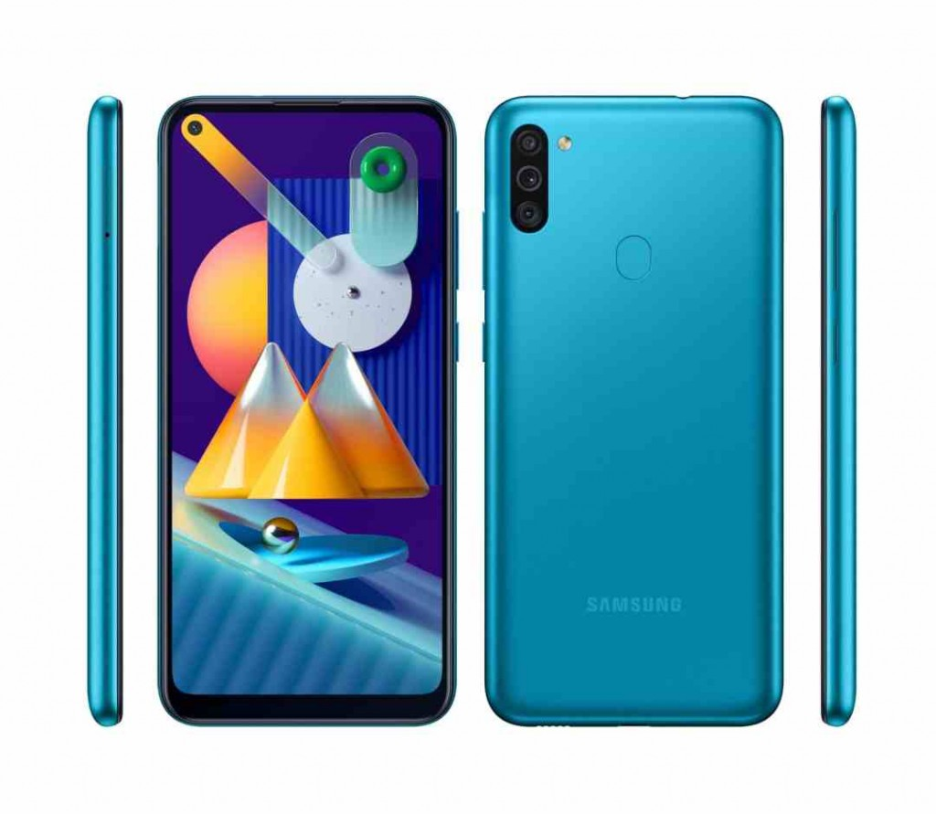 "Samsung Galaxy M11 Blue, 6.4 "", PLS TFT, 720 x 1560 pixels, Qualcomm SDM450, Snapdragon 450, Internal RAM 3 GB, 32 GB, microSDXC, Dual SIM, 3G, 4G, Main camera 13+5+2 MP, Android, 10.0, 5000 mAh"