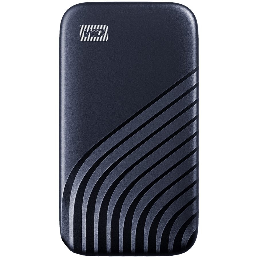 WD 1TB My Passport SSD - Portable SSD, up to 1050MB/s Read and 1000MB/s Write Speeds, USB 3.2 Gen 2 - Midnight Blue