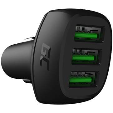 Green Cell In-Car Charger GC PowerRide 54W 3xUSB 18W with Ultra Charge technology
