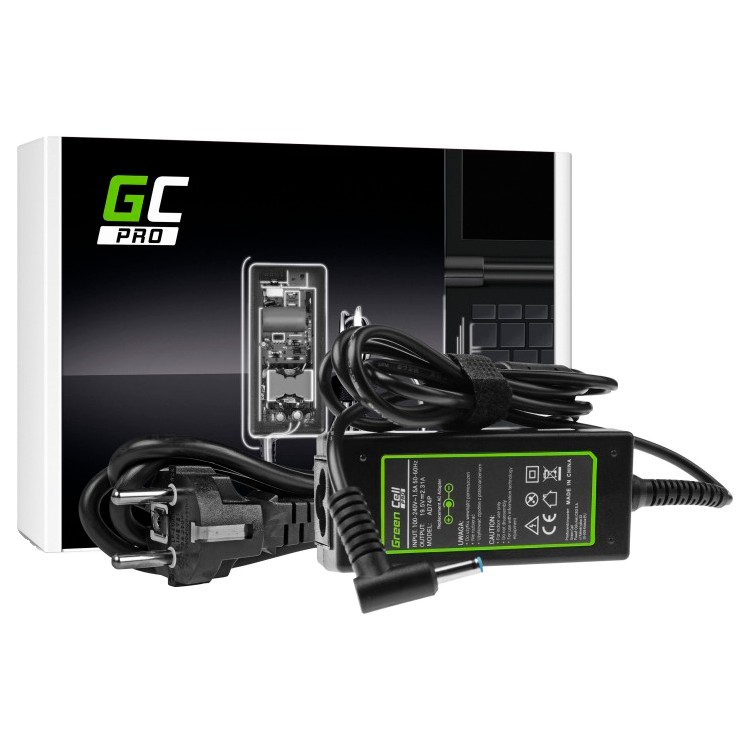 AC adapter Green Cell PRO 19.5V 2.31A 45W for HP 250 G2 G3 G4 G5 255 G2 G3 G4 G5, HP ProBook 450 G3 G4 650 G2 G3