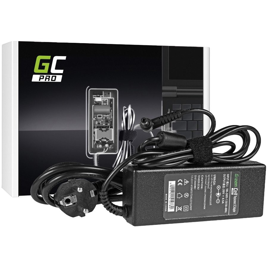 Green Cell PRO Charger / AC Adapter for Fujitsu-Siemens 20V 4.5A (5.5mm-2.5mm)